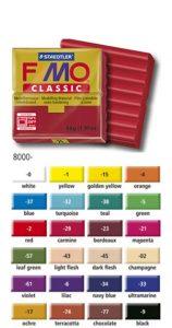 24 couleurs de base pour la pâte Fimo CLASSIC