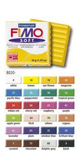 24 couleurs de base pour la pâte Fimo SOFT