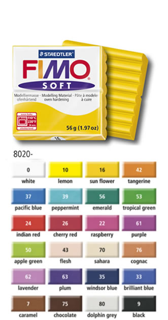 24 couleurs de base pour la pte fimo soft