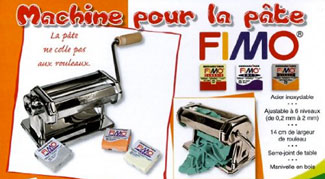 Outils Fimo : la machine à pâte ou pasta machine