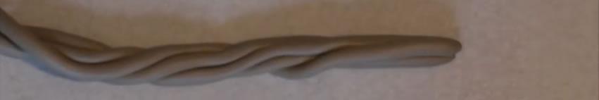 4 boudins enroulés - Tuto Fimo Bébé Groot