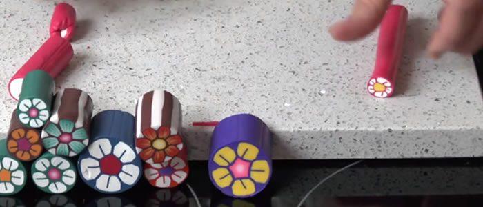 Tuto Fimo cane fleur (anglais) : faire une cane fleur simple en pâte Fimo
