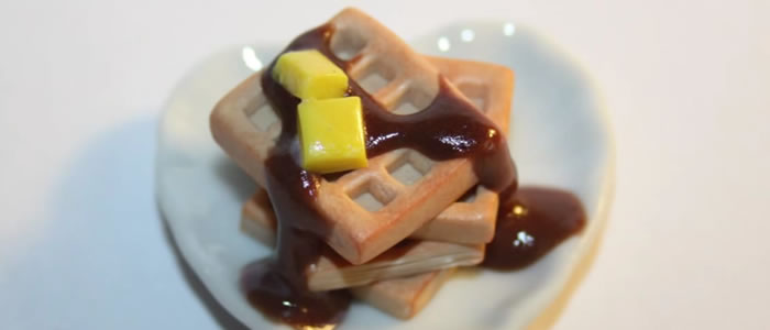 Tuto Fimo gaufres chocolat – Faire des gaufres chocolat en pâte Fimo