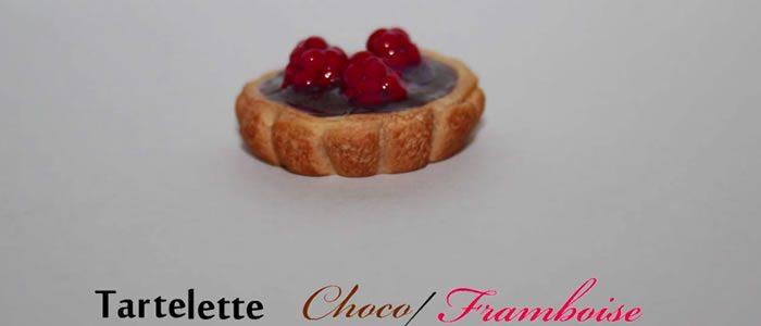 Tuto Fimo tartelette chocolat et framboise – Faire une tartelette chocolat et framboise en pâte Fimo