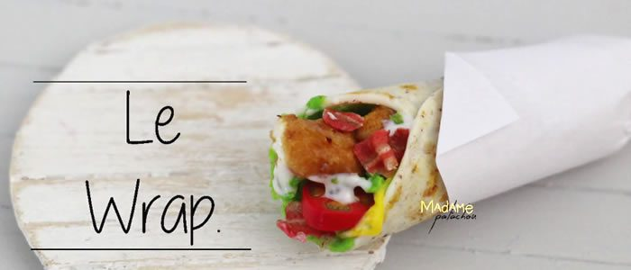 Tuto Fimo Chicken Wrap – Faire un Chicken Wrap en pâte Fimo