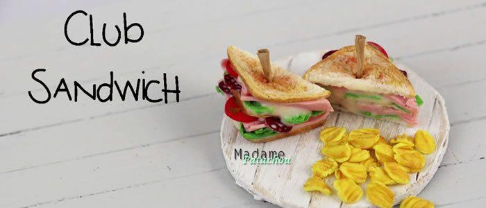 Tuto Fimo club sandwich – Faire un club sandwich en pâte Fimo