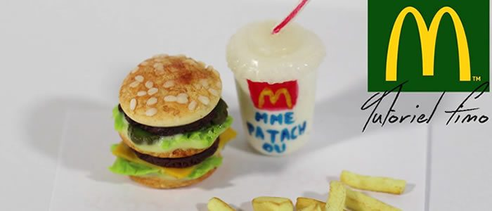 Tuto Fimo Mc Donald's – Faire un menu Mac Do en pâte Fimo