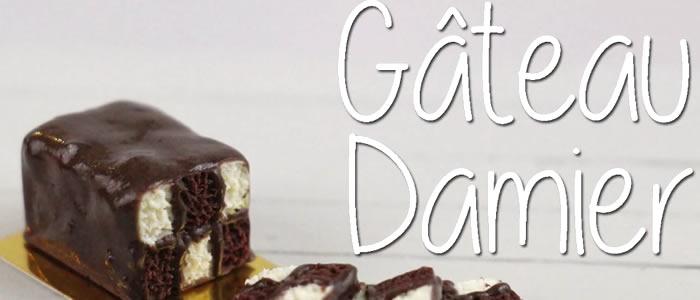 Tuto Fimo gâteau damier – Faire un gâteau damier en pâte Fimo
