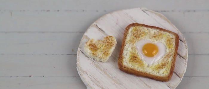 Tuto Fimo tartine coeur d'oeuf – Faire une tartine coeur d'oeuf en pâte Fimo