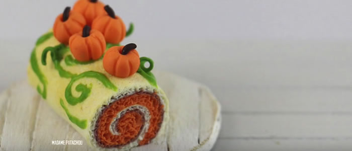 Tuto Fimo bûche à la citrouille (Halloween) – Faire une bûche à la citrouille en pâte Fimo