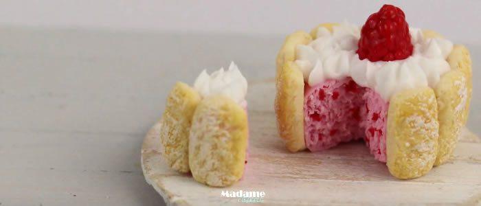 Tuto Fimo charlotte aux framboises – Faire une charlotte aux framboises en pâte Fimo