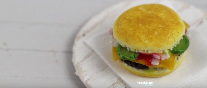 Tuto Fimo cheeseburger – Faire un cheeseburger en pâte Fimo