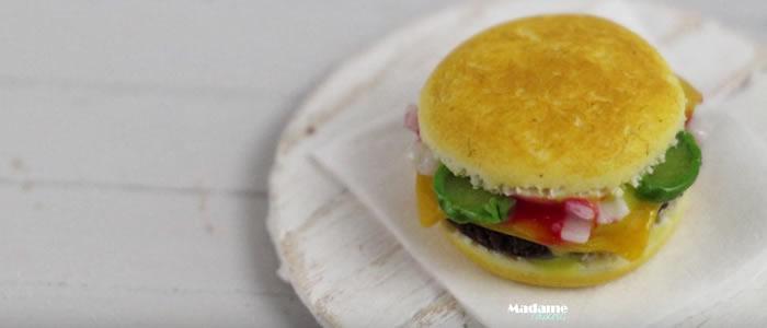 Tuto Fimo cheeseburger – Faire un cheeseburger en pâte Fimo