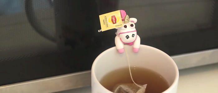 Tuto Fimo porte sachet thé licorne – Faire un porte sachet thé licorne en pâte Fimo