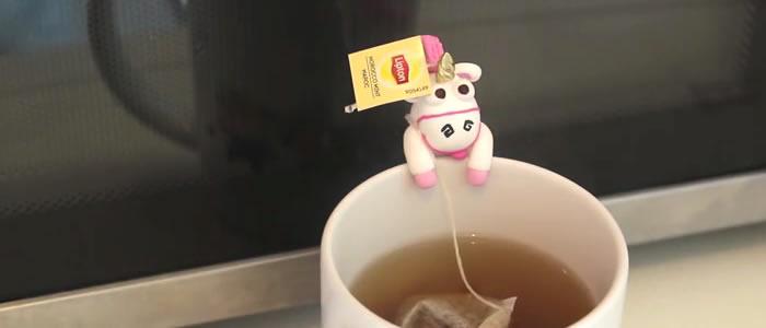 Porte sachet de thé fimo