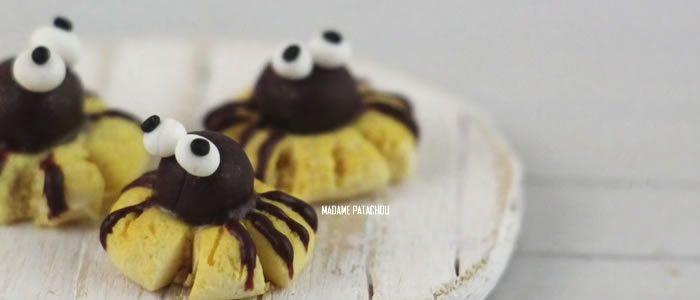 Tuto Fimo spider cookies (Halloween) – Faire des spider cookies en pâte Fimo