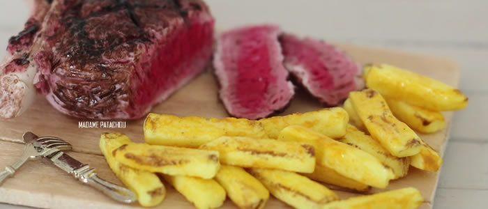 Tuto Fimo steack frites – Faire un steack frites en pâte Fimo