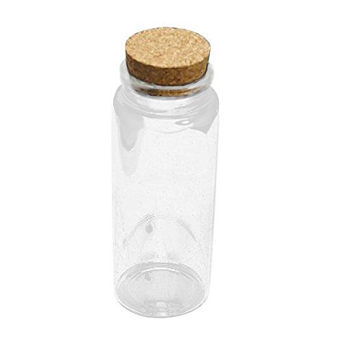 Lot 20 petites fioles 18 mm x 10 mm en verre pour bijoux Fimo