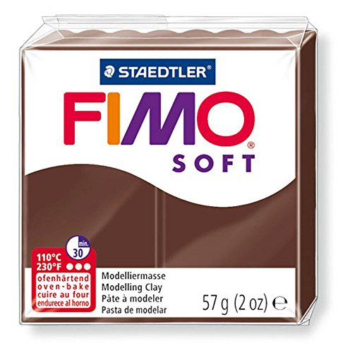Pain de pâte Fimo Soft 57g Marron Chocolat n°75