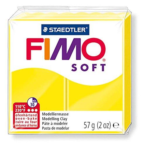 Pain de pâte Fimo Soft 57g Jaune Citron n°10