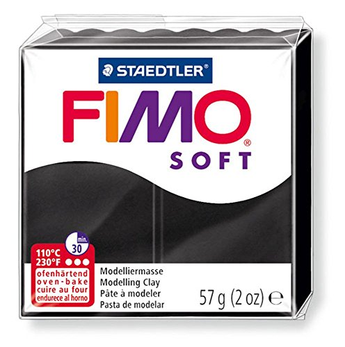 Pain de pâte Fimo Soft 57g Noir n°9