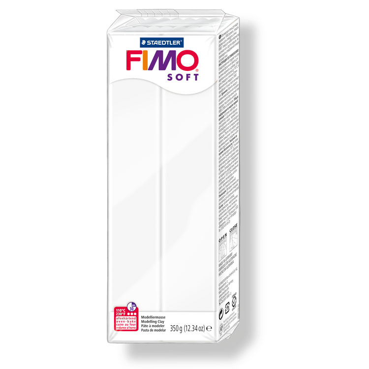 Pain de pâte Fimo Soft 350g Blanc n°0