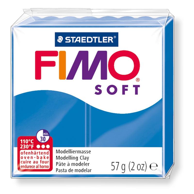 Pain de pâte Fimo Soft 57g Bleu Pacifique n°37