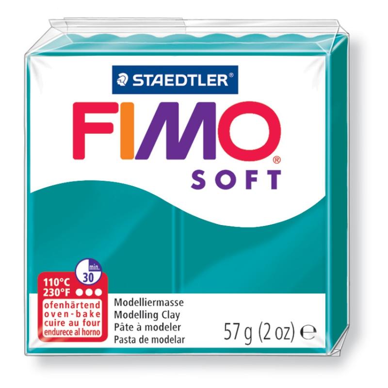 Pain de pâte Fimo Soft 57g Bleu Petrole n°36