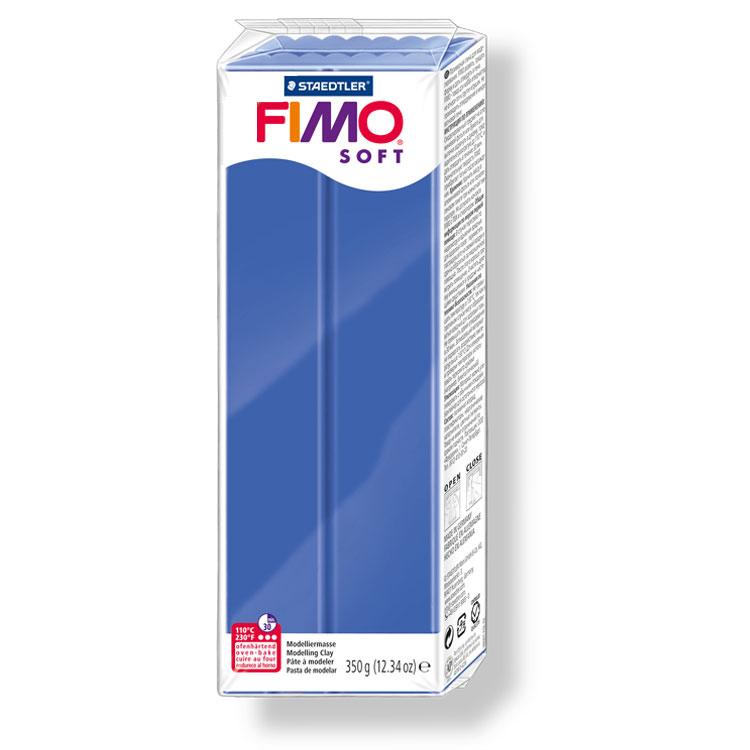 Pain de pâte Fimo Soft 350g Bleu Vif n°33