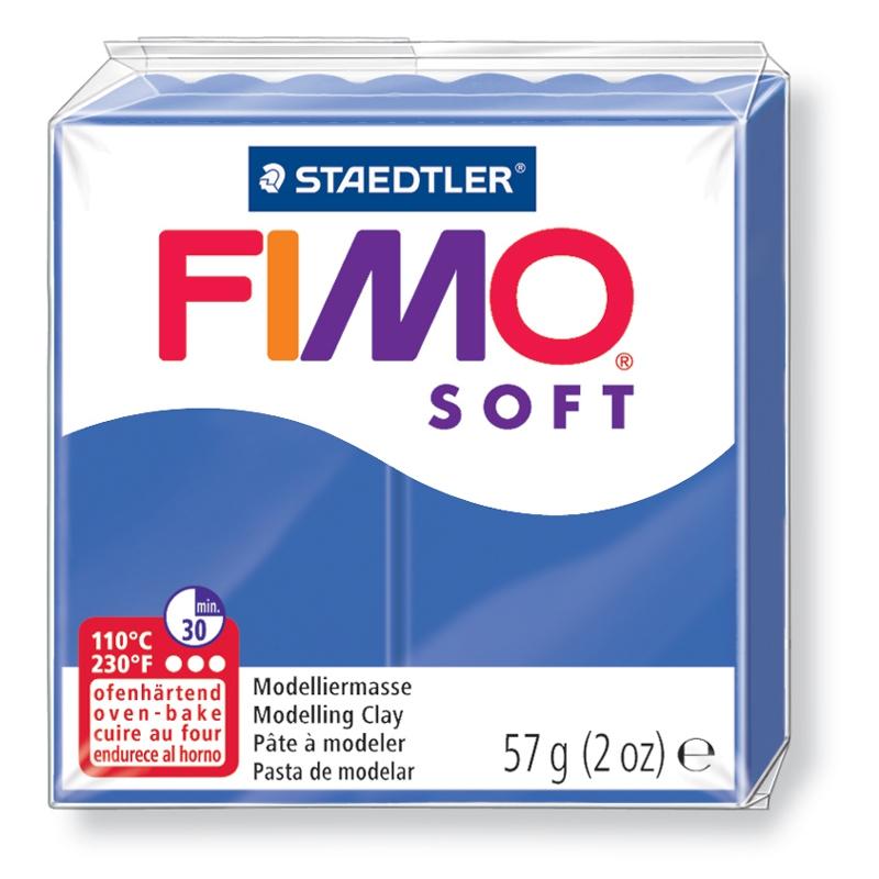 Pain de pâte Fimo Soft 57g Bleu Vif n°33
