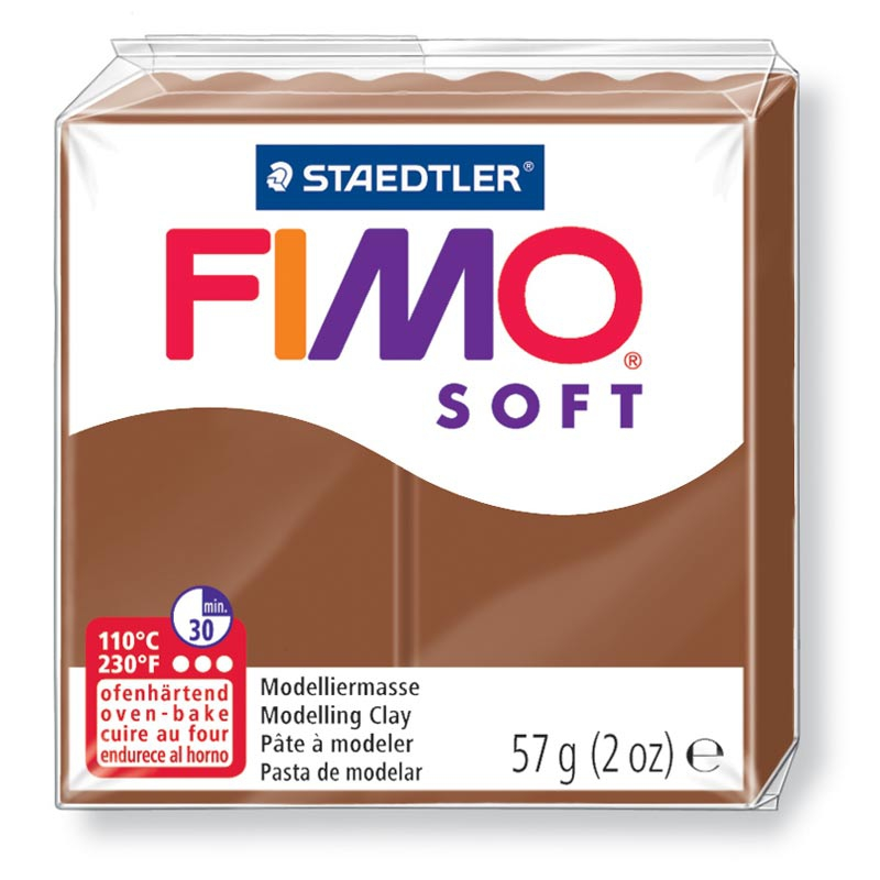 Pain de pâte Fimo Soft 57g Marron Caramel n°7