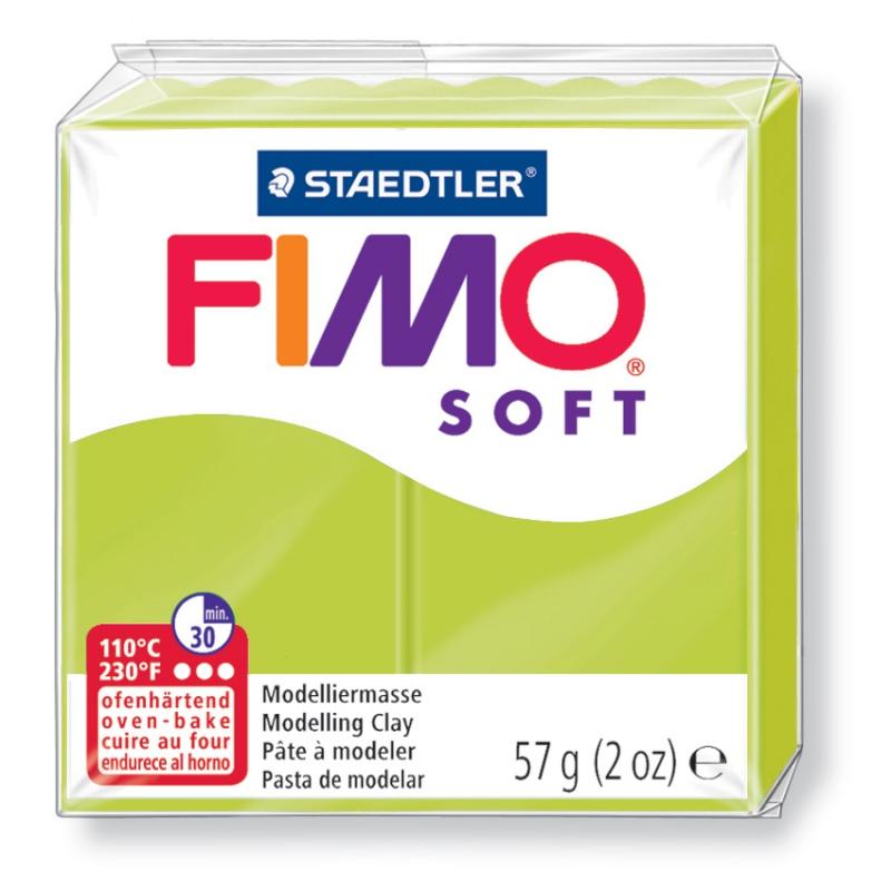 Pain de pâte Fimo Soft 57g Vert Citron Vert n°52