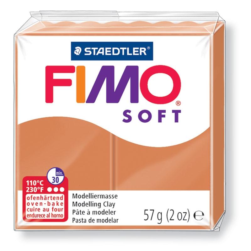 Pain de pâte Fimo Soft 57g Cognac n°76