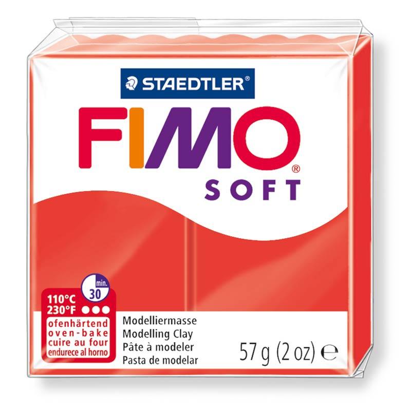 Pain de pâte Fimo Soft 57g Rouge Indien n°24