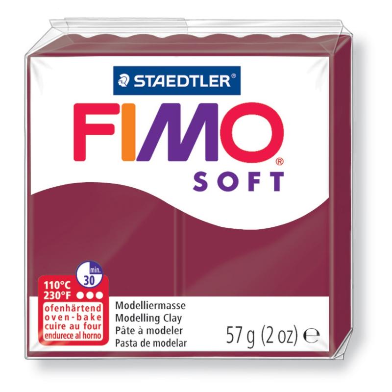 Pain de pâte Fimo Soft 57g Rouge Merlot n°23