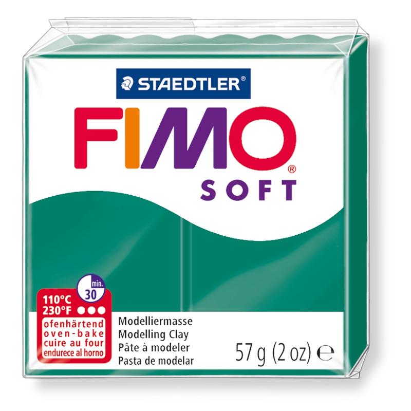 Pain de pâte Fimo Soft 57g Vert Emeraude n°56
