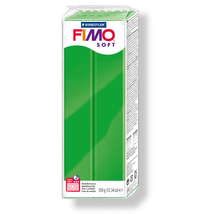 Pain de pâte Fimo Soft 350g Vert Tropical n°53