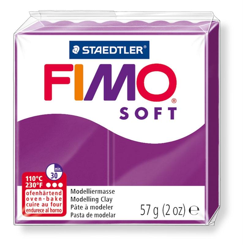 Pain de pâte Fimo Soft 57g Violet Pourpre n°61