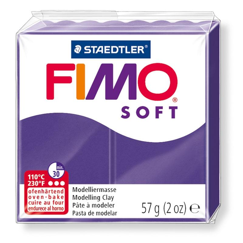 Pain de pâte Fimo Soft 57g Violet Prune n°63
